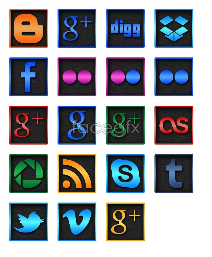 Network company LOGO design icons