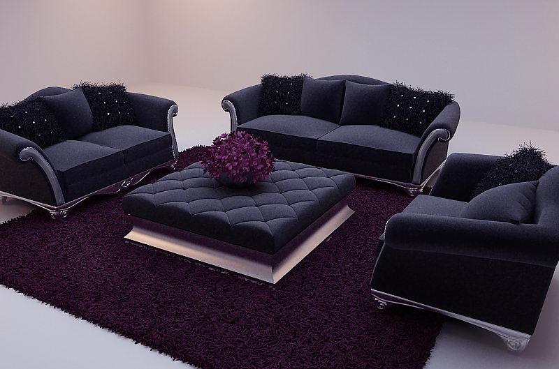 New Baroque Sofa 3d Model Including Materials Over Millions