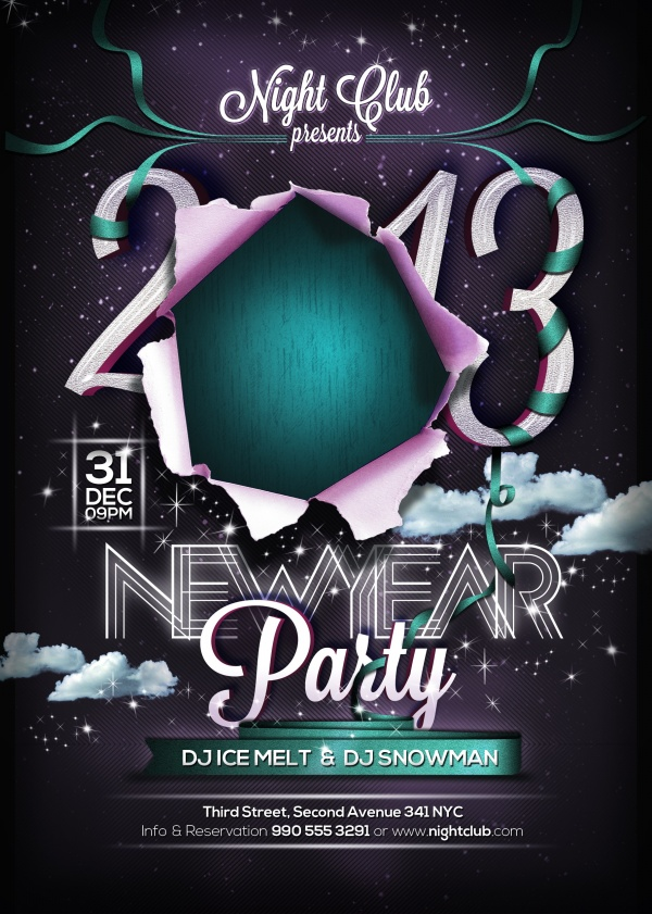 New year's party poster psd – Over millions vectors, stock