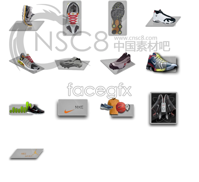 Nike sport shoes icon