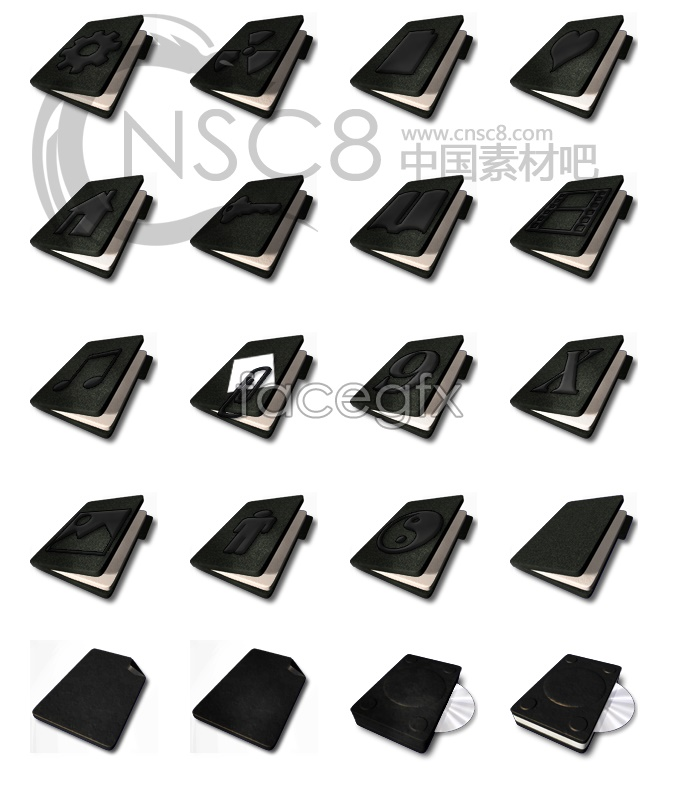 Notebook black theme folder