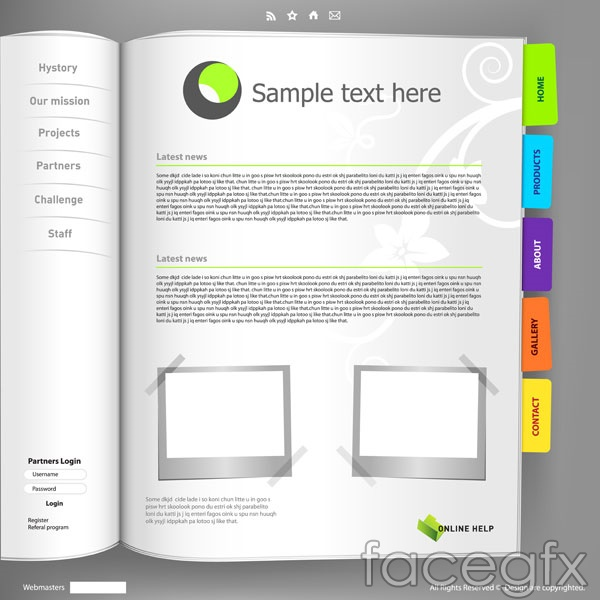 Notepad page template open book books vector – Over millions