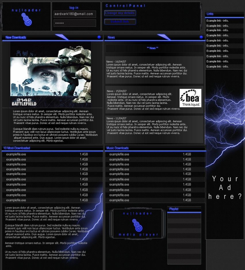 Nuloader Web template
