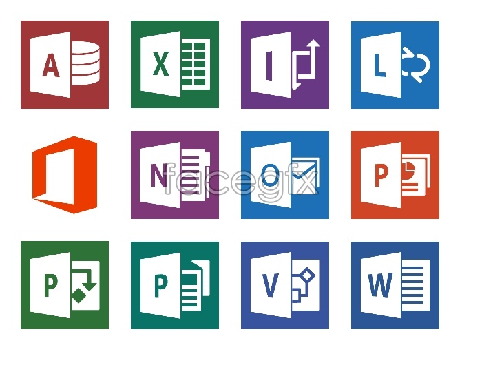 Office 2013 desktop icons