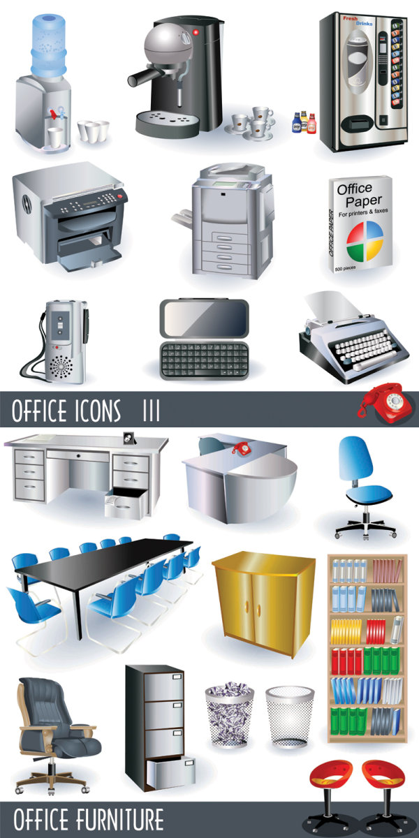 Office 3D icons