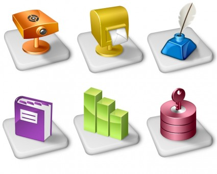Office dock icons icons pack