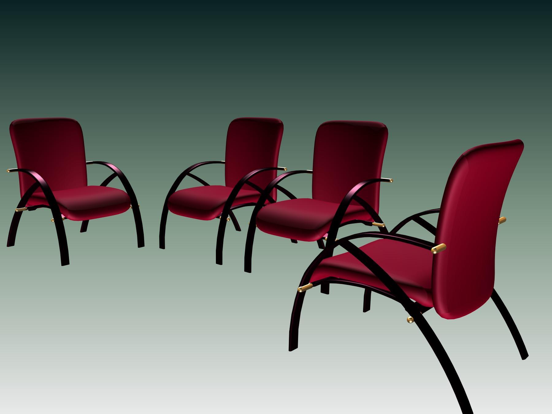 Office furniture 003-��24�� 3D Model