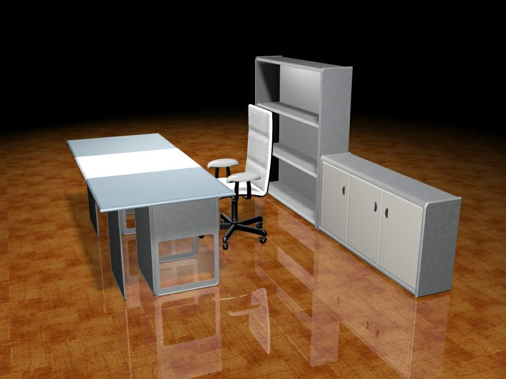 Office furniture 004-Office portfolio��59�� 3D Model