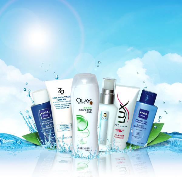 Olay shampoo ads PSD