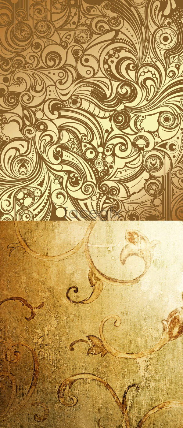 Line Texture Psd : Old gold flower texture psd over millions vectors