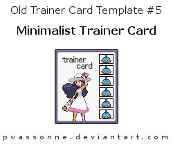 Old Trainer Card Template 5