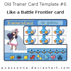 Old Trainer Card Template 6