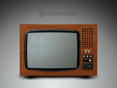 old tv icon – free psd