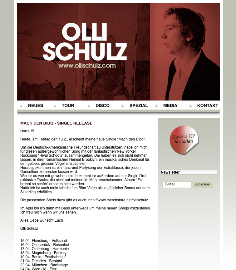 Olli Schulz Website Redesign