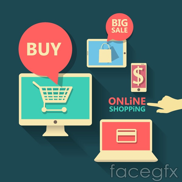Online shopping elements vector over millions vectors stock online shopping elements vector toneelgroepblik Gallery
