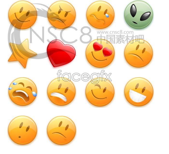 Orange button-funny face