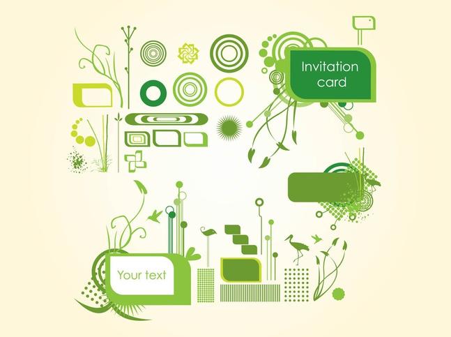 Organic Invitation Graphics vector free