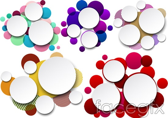 Overlapping Circles Background Vector Over Millions