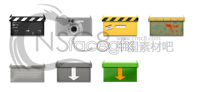 Packaging box icons