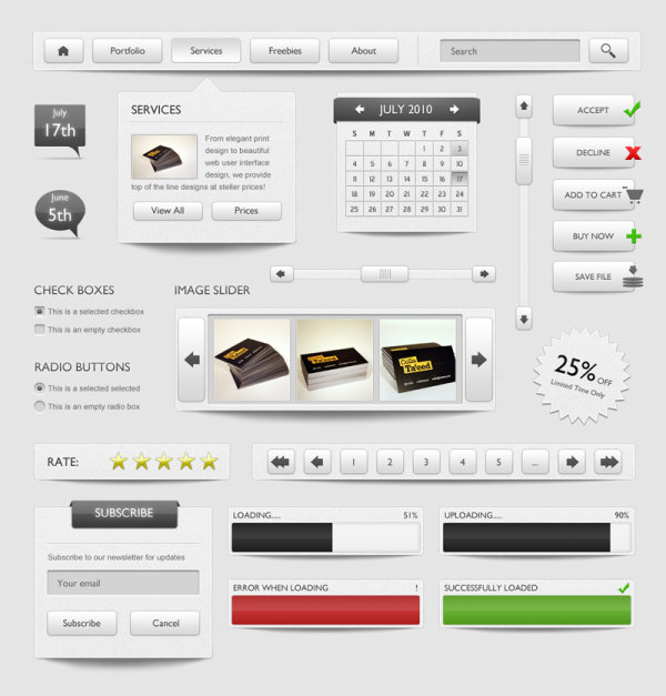 Page elements Psd03