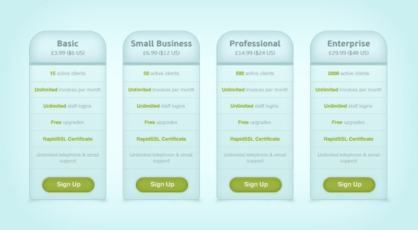 COM Share Page Price List Psd Design Template, You Can Download Now.