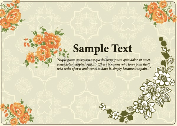 Painted flower line drawing Vector