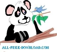 Panda and Bird