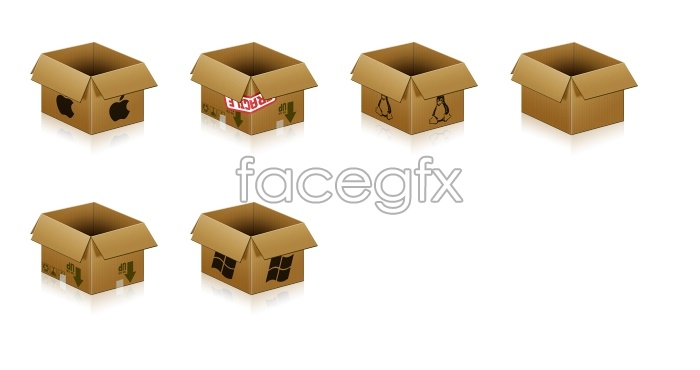 Paper packaging box icon