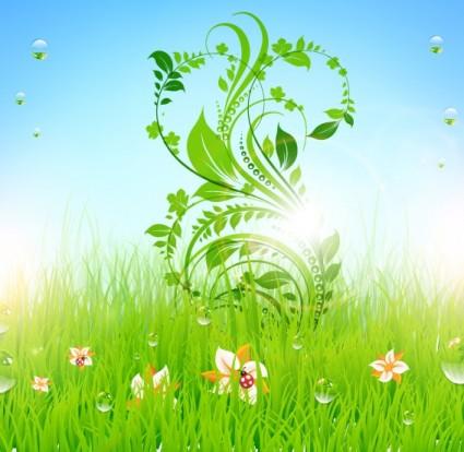 pattern of green grass 05 vector
