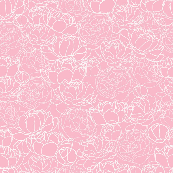 Peony pattern seamless background vector