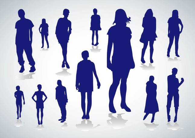 People Silhouettes Vectors free