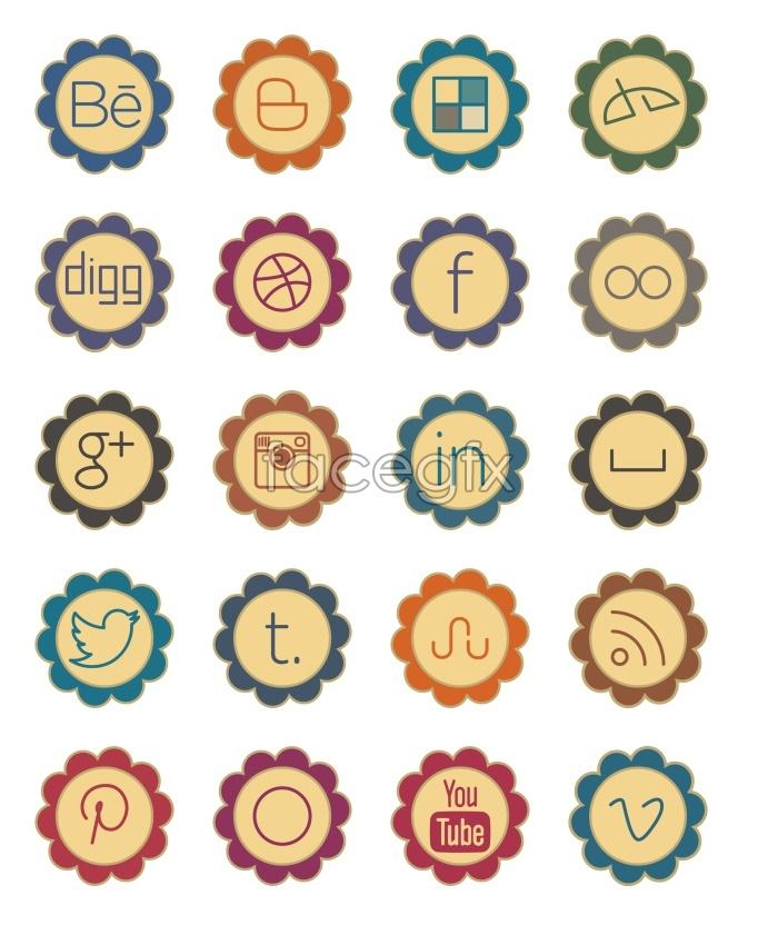 Petal social media icons
