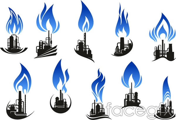 Petroleum Refining Industry Logo Vector Over Millions