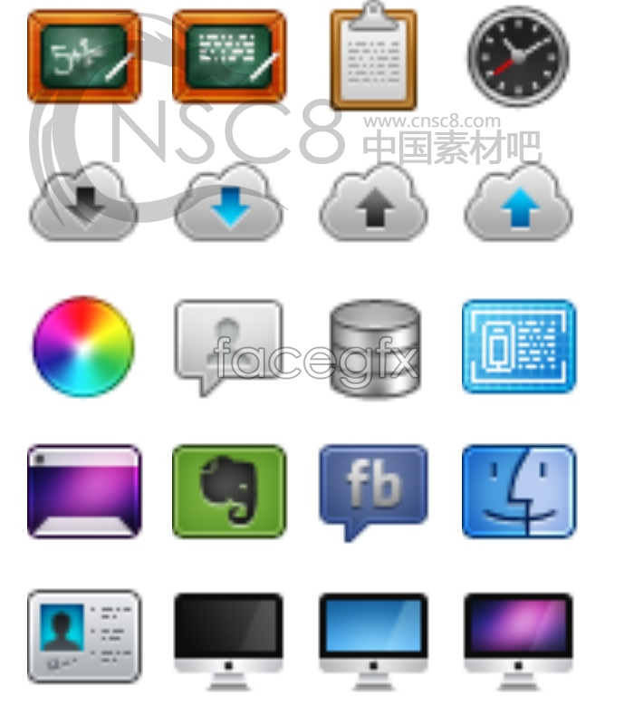 Phone system desktop icons
