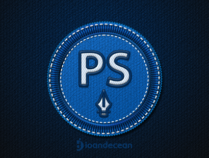 photoshop badge – free psd