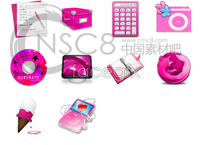 Pink desktop icon