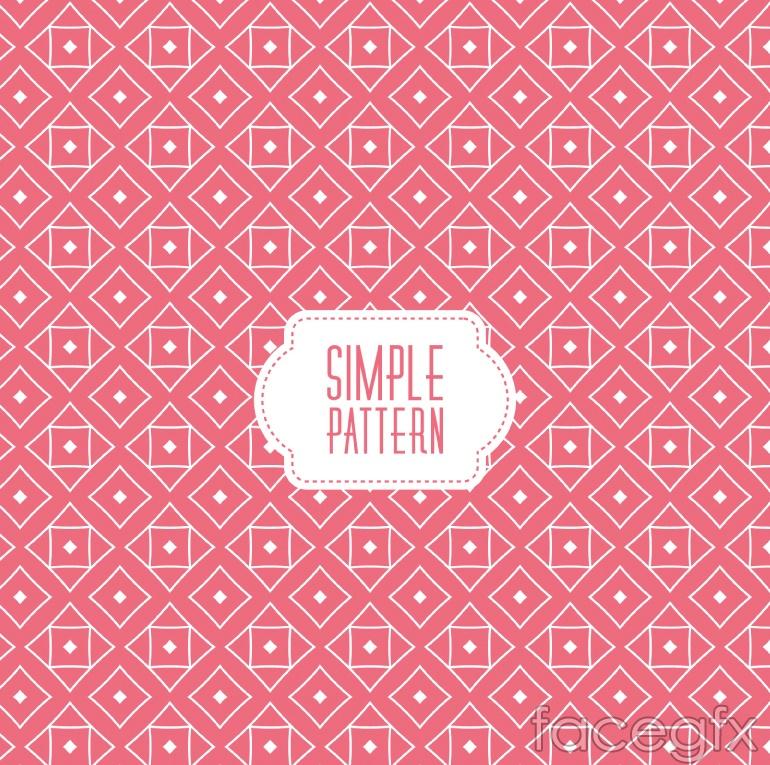 Pink diamond lattice vector seamless background