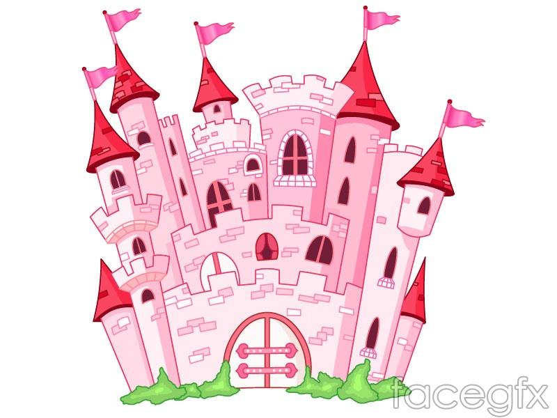 Pink fairytale castle vector – Over millions vectors, stock photos ...