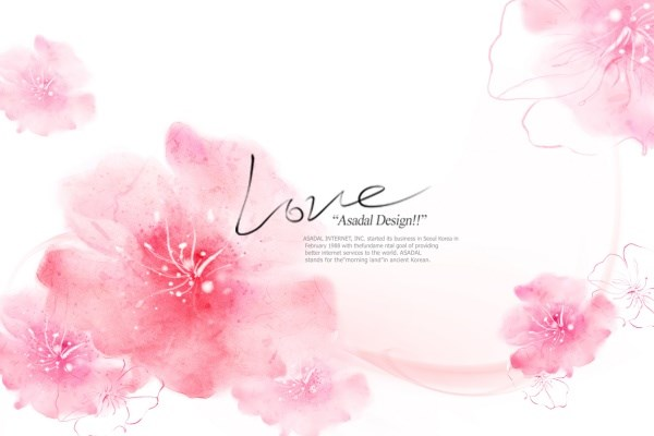 Pink flowers for romantic psd over millions vectors stock pink flowers for romantic psd toneelgroepblik Image collections