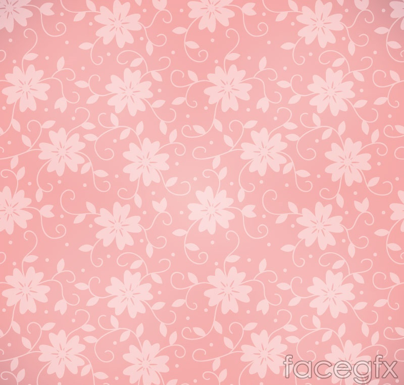 Pink seamless background pattern vector