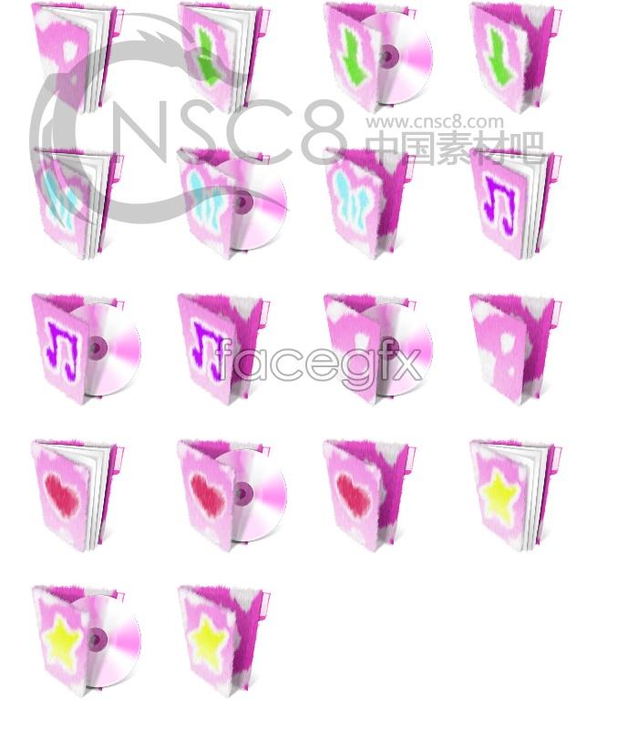Plush folder icons