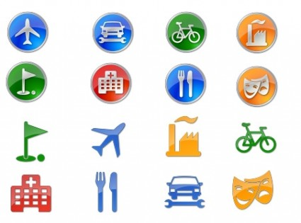 Points of Interest Icon Set icons pack