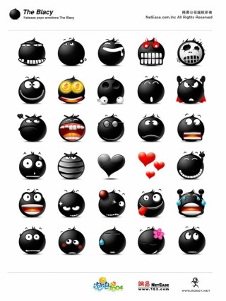 Popo Emoticons – The Blacy icons pack