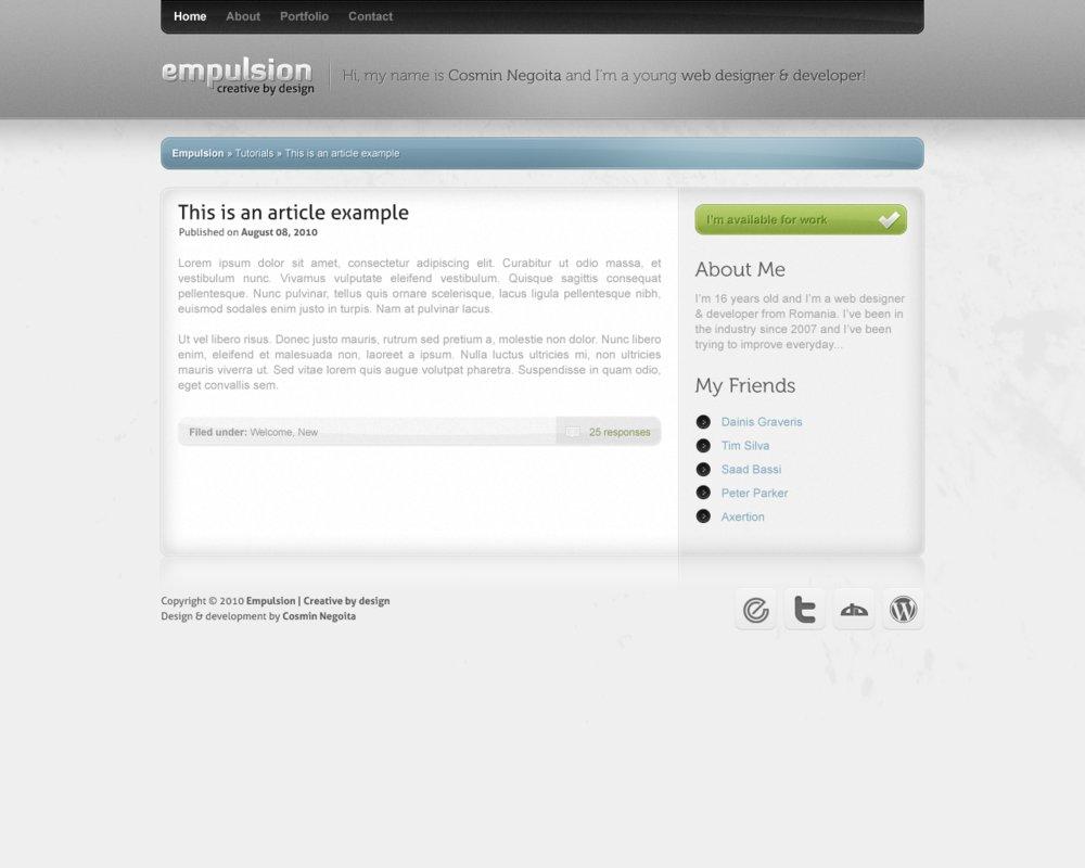 Portfolio and Blog Concept
