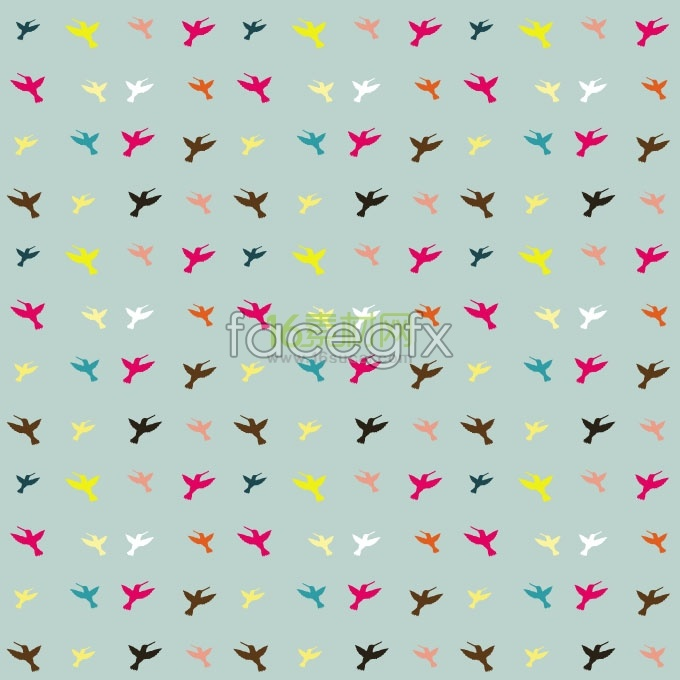 Pre bird-shaped decorations background