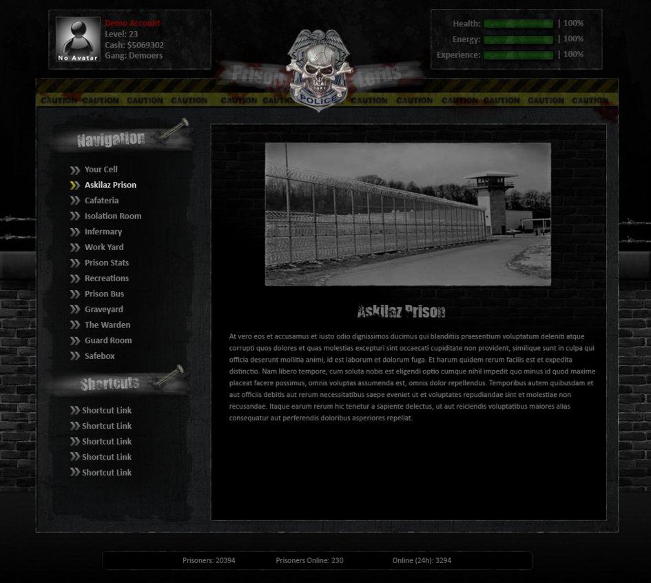 PrisonLords Game Design