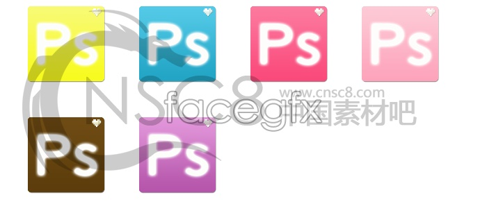 PS software desktop icons