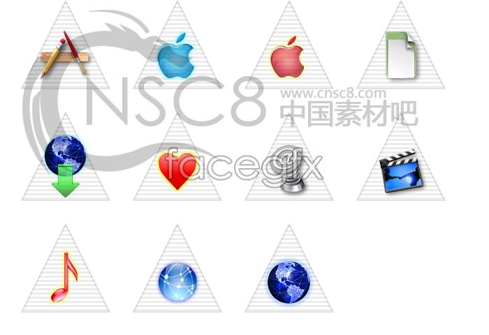 Pyramid of white Apple icon