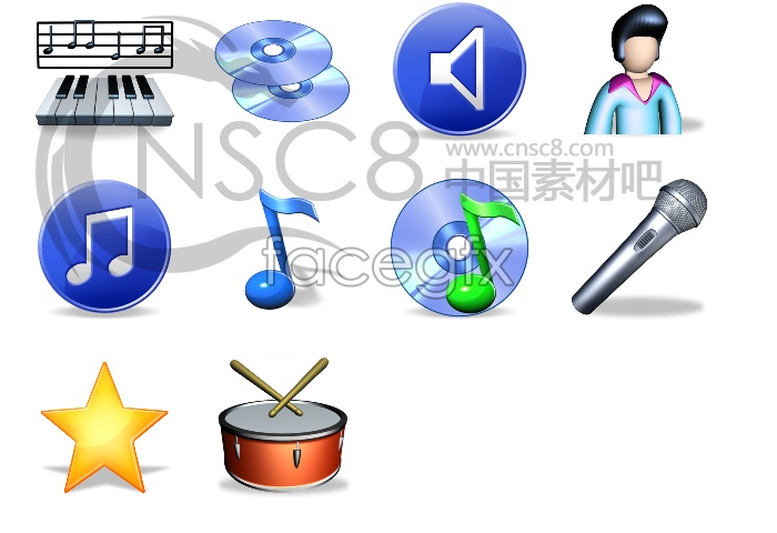 QQ music file icons