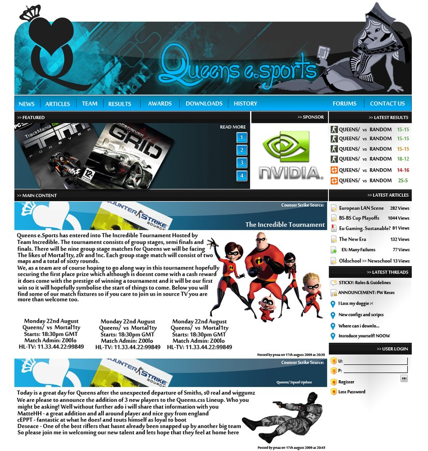 Queens website